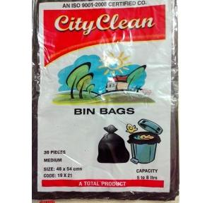 City Clean 19x21 Inch Disposable Garbage Bag (Pack of 30 Pcs)