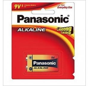Panasonic 9V Alkaline Battery,  6LR61TDG/1B