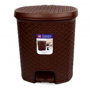 Cello Plastic Brown Dustbin, 6 Ltr