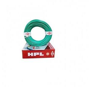 HPL 1 Sq mm Green PVC Insulated Single Core Unsheathed Industrial Cables (200 Mtr)