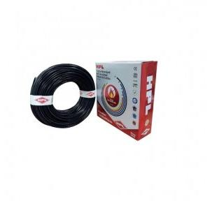 HPL 4 Sq mm Black PVC Insulated Single Core Unsheathed Industrial Cables (200 Mtr)