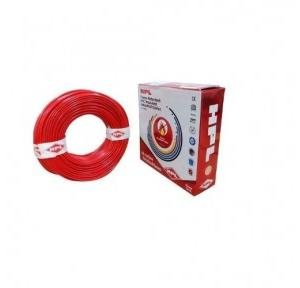 HPL 4 Sq mm Red PVC Insulated Single Core Unsheathed Industrial Cables (200 Mtr)