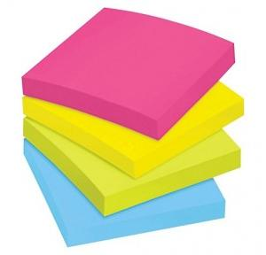 Desmat Sticky Multi Colored Note Pad, 1x3 Inch (100 Sheets)