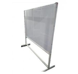 Aluminium Frame Magnetic White Board With Wheel Stand, 3x3 ft