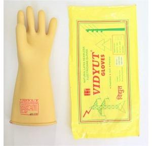 Vidyut Shock Proof Rubber Electrical Hand Gloves, 33 KVA