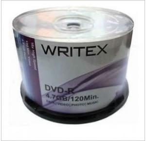 Writex DVD-R 4.7 GB (Pack of 50 Pcs)