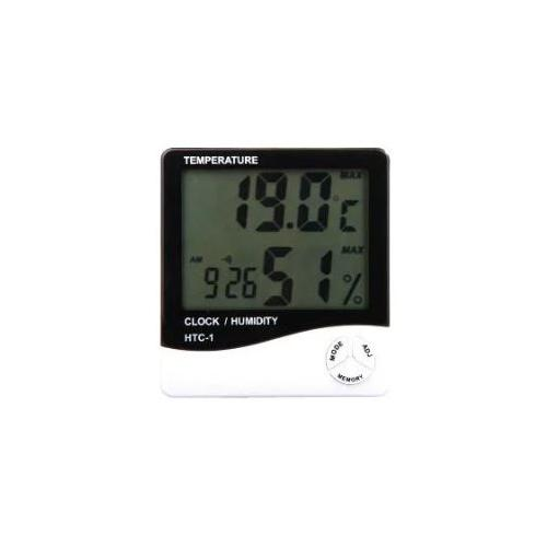 HTC Digital LCD Electronic Alarm Clock Thermometer Hygrometer, HTC-1