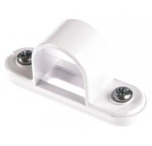 PVC White Saddle Clamp With Base, 25mm (Pack of 100)