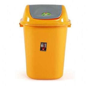Cello Esquire Plastic Yellow Dustbin, 80 Liters