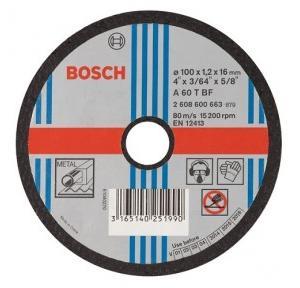 Bosch Cutting Wheel, 100 x 1.2 x 16 mm, Grade: A 46 P BF, 663