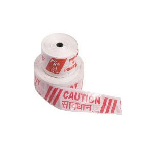 Prima Red & White Barricading Tape, 4 Inch x 500 Mtr