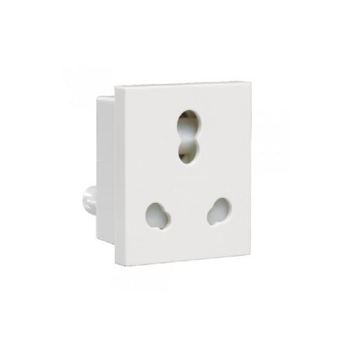 Crabtree Athena 6-16 A 3 Pin Combined Shuttered Socket, ACAKCXW163