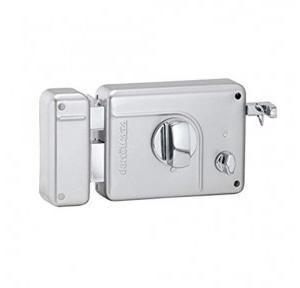 Dorset Smart Rim Lock Night Latch Key and Knob (Platina), SM 101