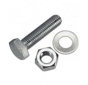 Stainless Steel Nut Bolt with Washer, 10x30 mm