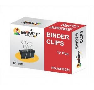 Infinity Binder Clips 51mm (Pack Of 12 Pcs)