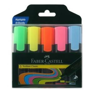 Faber Castell Highlighter Textliner Assorted Color (Pack of 5 Pcs)