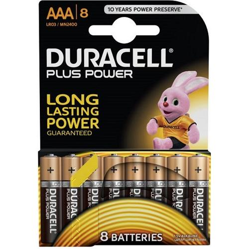 Duracell AAA Alkaline Battery (Pack of 8)