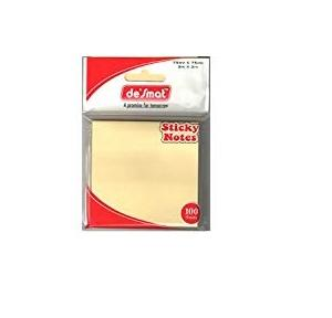 Desmat Sticky Note Pad, 3x4 Inch (100 Sheets)
