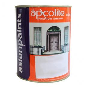 Asian Apcolite Premium Enamel Paint (Black), 4 Ltr