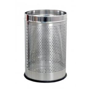 SS Perforated Dustbin Without Lid 5 Ltr, 8x12 Inch