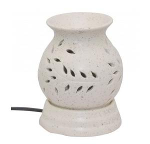 FnP Ethnic Electric Aroma Diffuser Round Shape Burner (White)