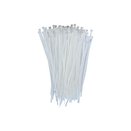 Stronger Nylon Cable Ties White, 250 mm (Pack of 100 Pcs)