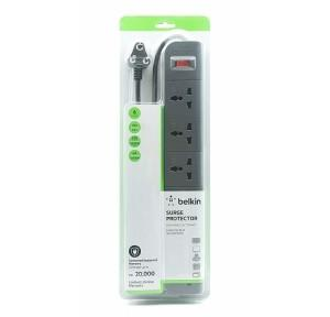Belkin Essential Series 6 Socket Surge Protector 6A, F9E600zb2MGRY