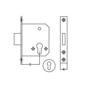 Dorma Satin Stainless Steel Dead Lock 20x5 mm, XL-C 2016