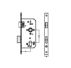 Dorma Satin Stainless Steel Sash Lock 20x55 mm, XL-C 3025