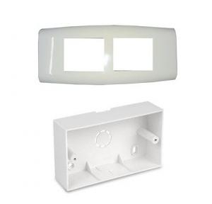 MK Wraparound 8M Surface Plastic Box (W26178) With Front Plate (W26008)