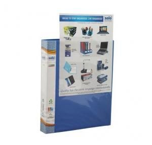 Solo RB405 Ring Binder 2 D Ring (With Front View Pocket), Size: A4