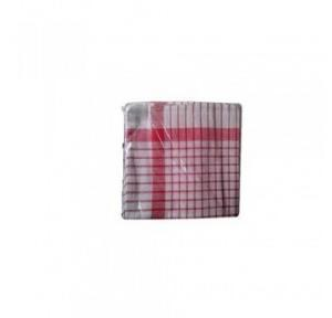 Red Check Duster, 18x18 Inch (Pack of 12)