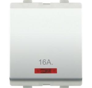Alemac Axor 16A 1 Way Switch With Indicator (White), 811