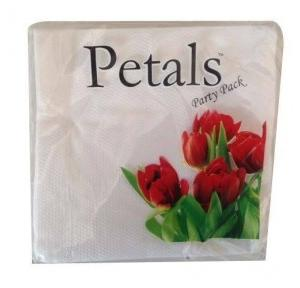 Petals Paper Napkin 1 Ply, 30 x 30 cm (Pack of 50)