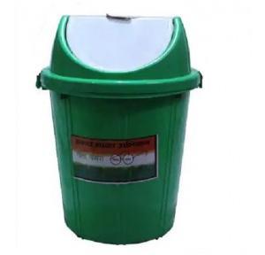 Plastic Swing Dustbin Green Colour, 60 Ltr