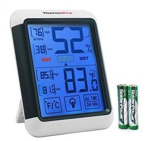 AmiciSense Thermometer Hygrometer With Touch screen Temperature and Humidity, AS-55