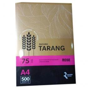 Ruchira Tarang A4 Colored Copier Paper, 75 GSM, 500 Sheets (Rose)
