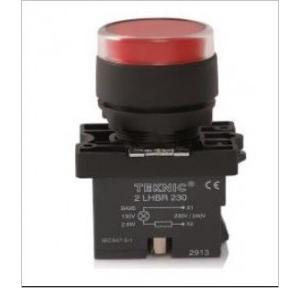 Teknic White Illuminated Momentary Actuator With Filament Bulb, P2ALRF1