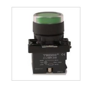 Teknic White Illuminated Momentary Actuator With Filament Bulb, P2ALF1