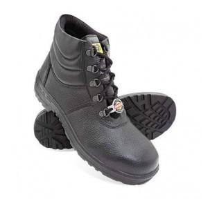 Liberty Warrior High Ankle Steel Toe Black Safety Shoes, 7198-02, Size: 9