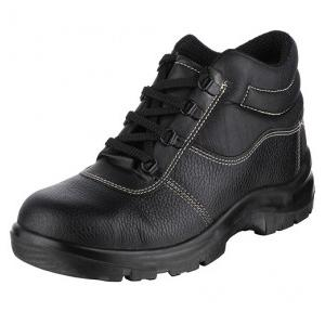 Acme Rapid Single Density Steel Toe High Ankle Black Safety Shoes, Size: 6