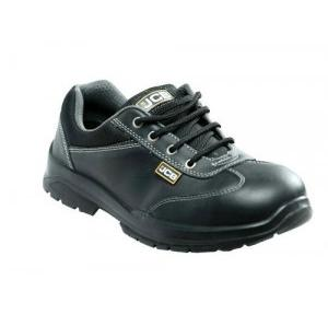 JCB Supermax Double Density Steel Toe Leather Safety Shoes, Size: 7