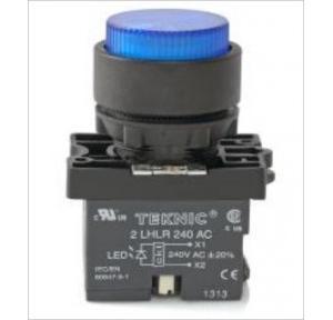 Teknic Yellow Led/ White Lens Illuminated Actuator Flasher With Integral LED Bulb, P2ALRP1LF