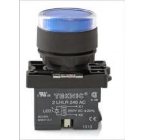 Teknic Yellow Led/ White Lens Illuminated Flasher Actuator With Integral LED Bulb, P2ALRF1LF
