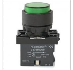 Teknic White Illuminated Momentary Actuator With Filament Bulb 6-130V AC/DC, P2ALP1
