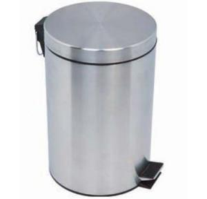 SS Dustbin With Cover Paddle Type, 5 Ltr