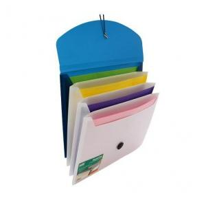 Solo EX905 Quadpro 4-Section Expanding Folder, Size: A4