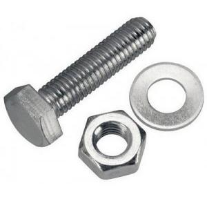 GI Nut Bolt with Washer, 18x48 mm