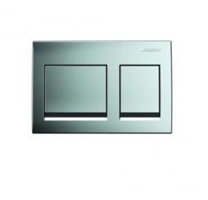 Geberit Alpha 15 Dual Actuator Flush Plate Bright Chrome, 115.045.21.1