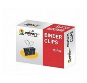 Infinity Binder Clips 15mm (Pack Of 12 Pcs)